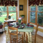 The views from our dining room are part of the best breakfast in Green Lake experience at Miller's Daughter B&B
